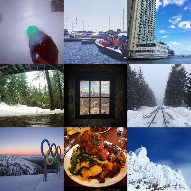 2017 Best Nine on Instagram #2017BestNine  Left to Right, Top to Bottom… 1. Ghost Face Snowboarding, Upper Dave Murray 2. Police Boat Cinemagraph, Queens Quay 3. Empress Boat, Toronto 4. Snowy Garden Cinemagraph, Whistler Creekside 5. CN Tower viewed from Casa Loma, Toronto 6. Snowy Railroad, Function Junction  7. Olympic Rings at the Roundhouse Lodge, Whistler  8. Epic Carvery at The Coopers Arms, Derby 9. Icy Bluebird, Whistler Peak  2,219 Likes to 40 Posts in 2017