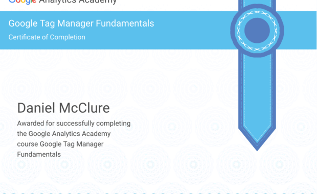Google Tag Manager Fundamentals Certificate