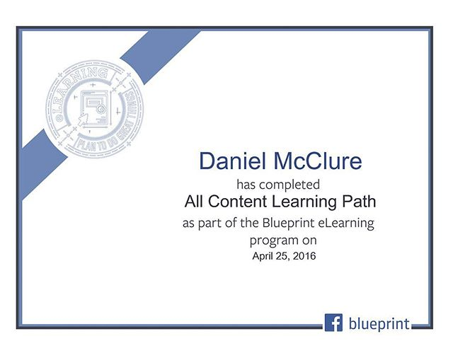 I'm now a Facebook Marketing Expert™︎ Well I completed the all of the #Facebook #Advertising modules from the official #FacebookBlueprint course at least. Highly recommended for people getting into #Ads on Facebook or #Instagram or simply looking to expand their digital skillset.