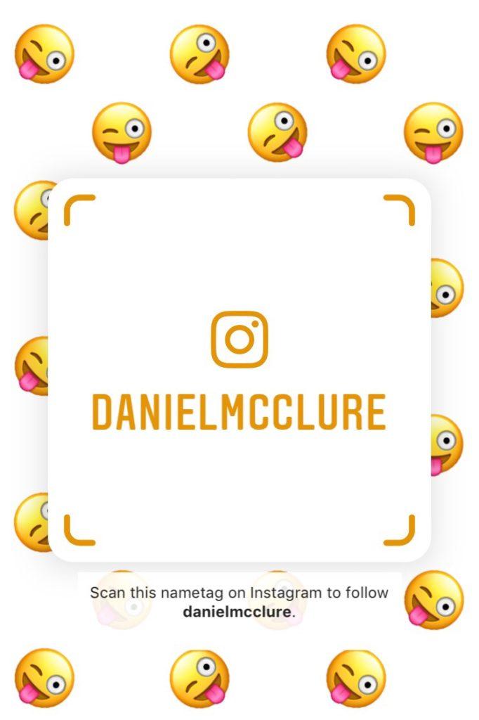 Emoji Instagram Nametag