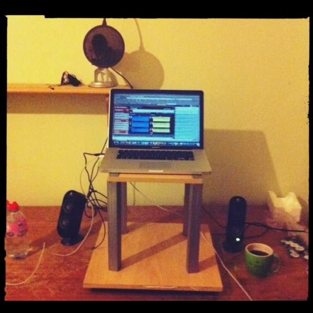 My new professionally altered stand up desk ;)
