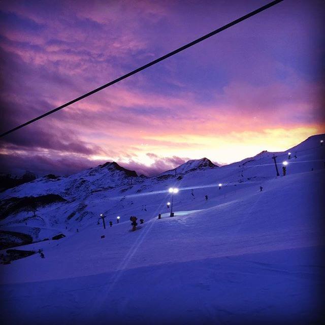 #Sunset at #CoronetPeak #NightSki.  #GoPro #Ski #Skiing #SnowBoard #Snowboarding #Queenstown #Otago #Mountains #Clouds #Corona #FromWhereYoudRatherBe