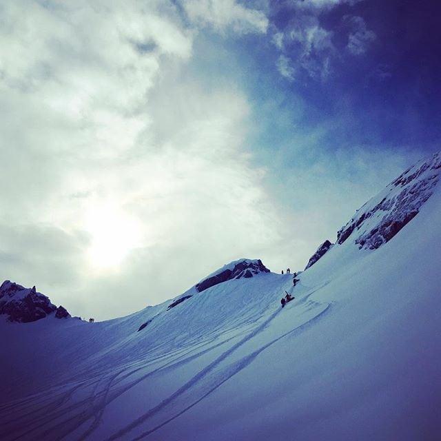 The climb to the top at Blackcomb Glacier