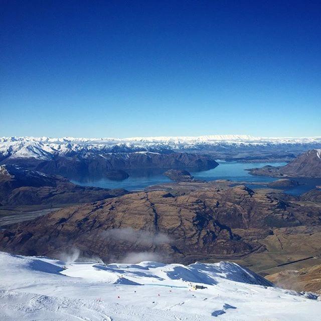 View from #TrebleCone #Wanaka.  #Snowboarding #Skiing #Ski #Snow #Queenstown #Otago #NewZealand