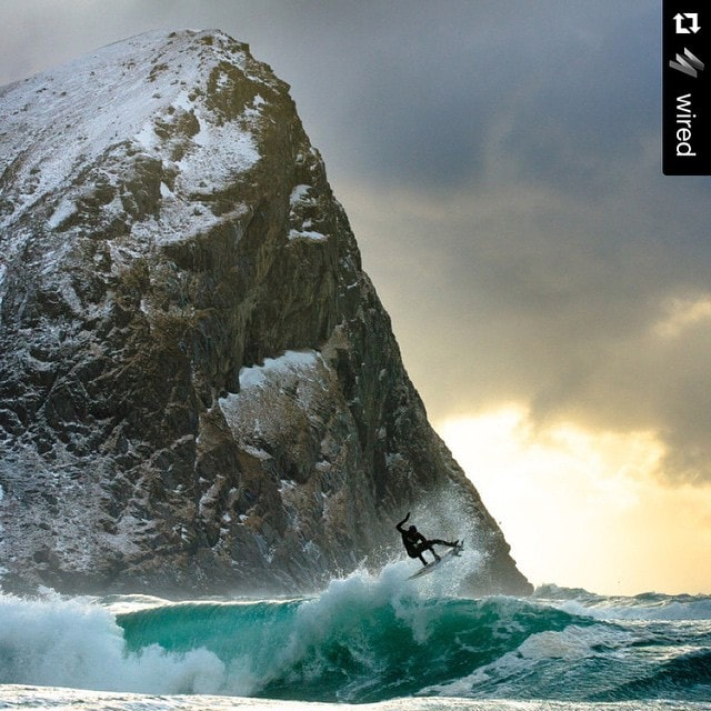 Where the #oceans meet #snow capped #mountains.  Inspirational #Repost from @wired ・・・ Photographer Chris Burkard explores what it's like to #surf earth's frozen seas (other than cold). More at WIRED.com/photo (? Chris Burkard)