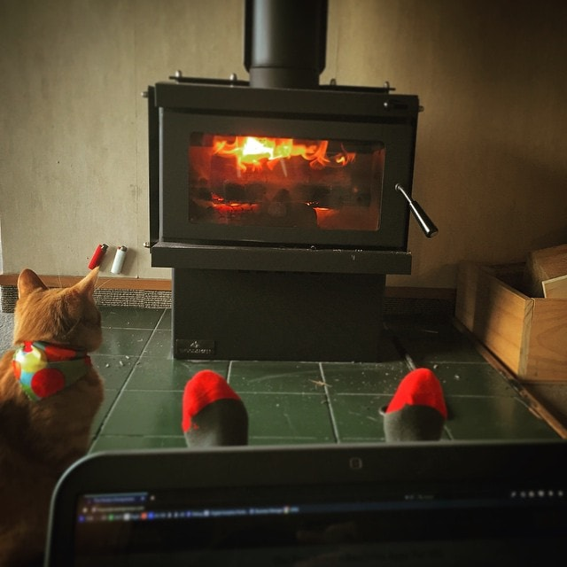 Working on #Analytics by the #fire with a toasty #kitten. The joys of #WorkingFromHome and #LifestyleDesign in general ?