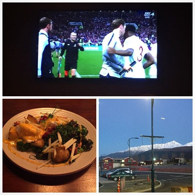World Cup Breakfast on the bottom of the world…